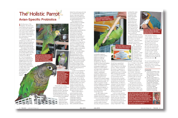 Parrots magazine 150th issue